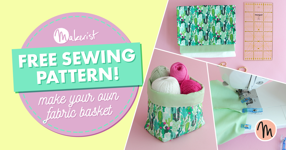 Easy Diy Sew Your Own Fabric Basket Makerist